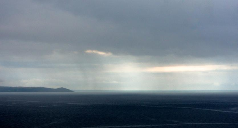 Light over the sea off Rame Head