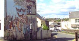Callington mural, King Aurthur's arrival
